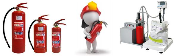 Extintores en taller